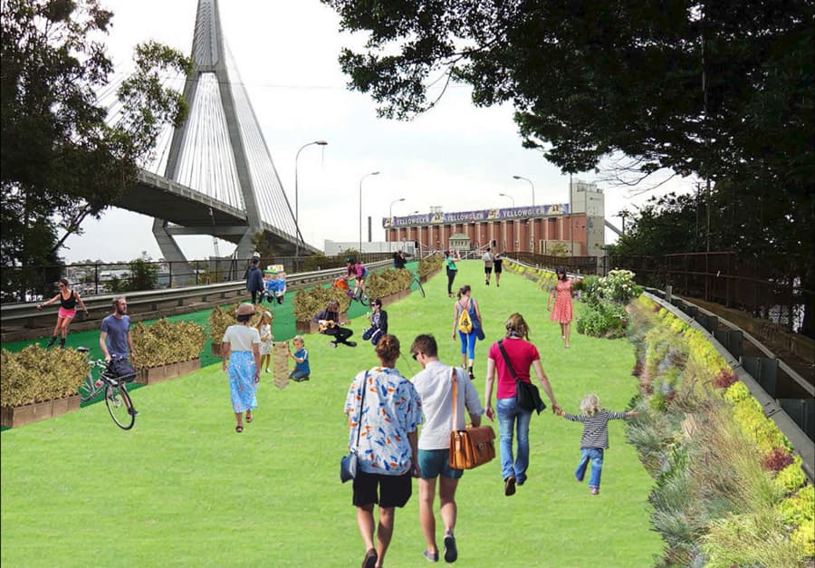 Visualisation for the future of Glebe Island Bridge by GIBR Project