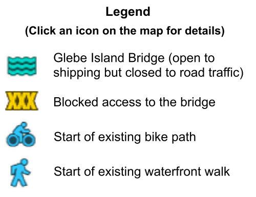 Glebe Island Bridge Map Legend