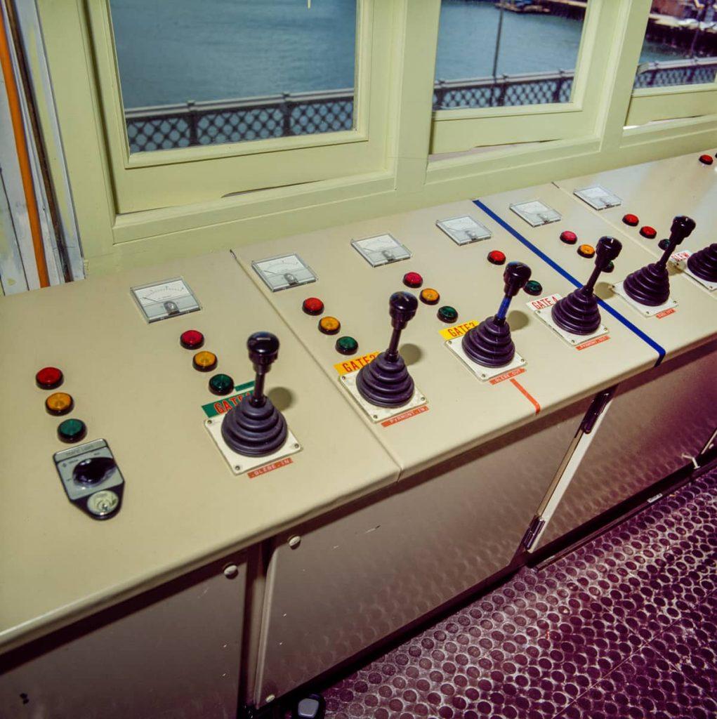 102168 New Glebe Island Bridge Control Cabin Panel 1983