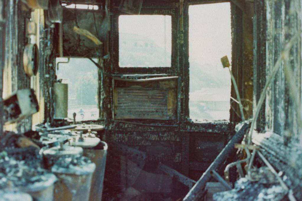 102170 Glebe Island Bridge Control Panel System Fire Damage 1982
