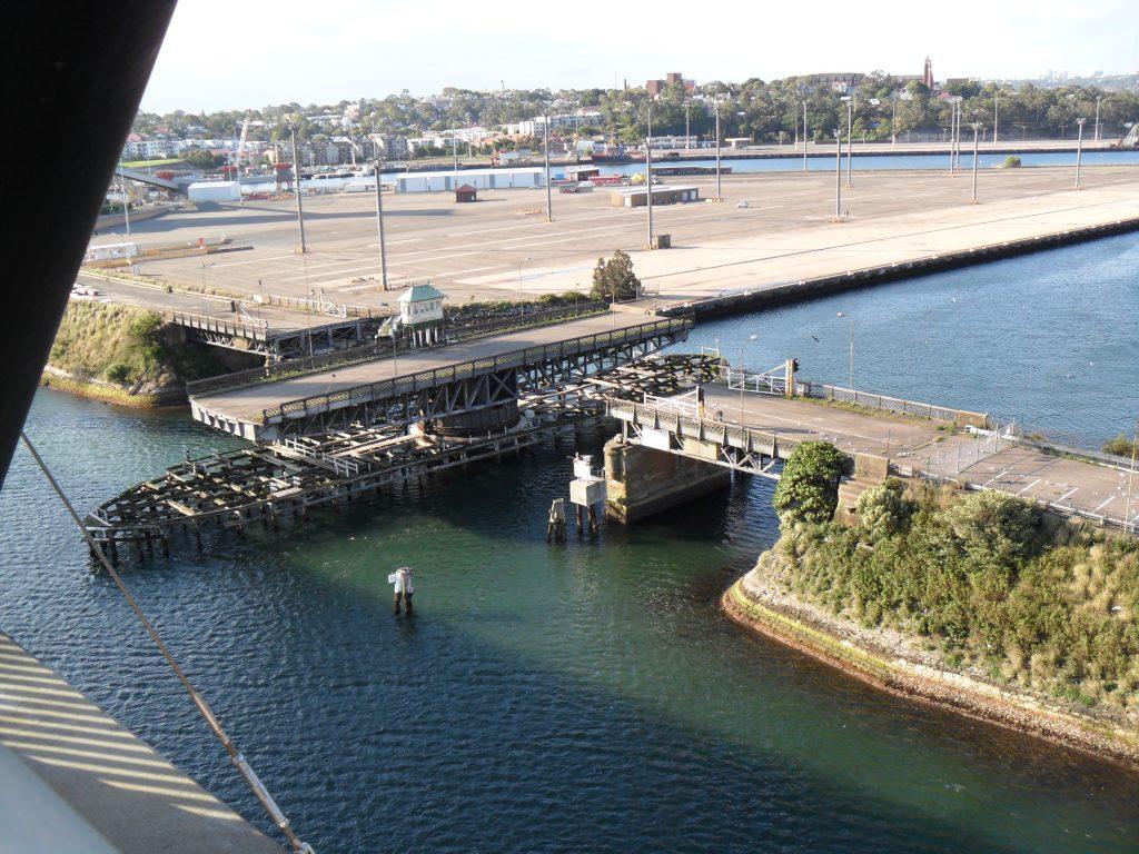 Glebe Island viewed from ANZAC Bridge, December 2011. JohnsonL623