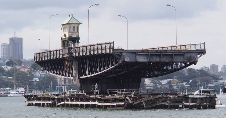 The current neglected state of the bridge 2015.